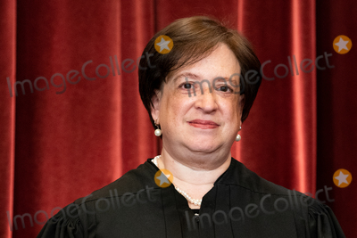 Group Photo Photo - Associate Justice of the Supreme Court Elena Kagan stands during a group photo of the Justices at the Supreme Court in Washington DC on April 23 2021 Credit Erin Schaff  Pool via CNPAdMedia