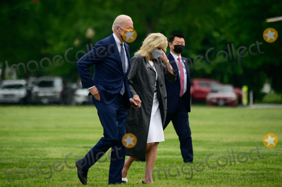 Jill Biden Photo - US President Joe Biden and First Lady Jill Biden arrive to the White House Ellipse on Marine One after a visit to Virginia in Washington DC US on Monday May 3 2021 Bidens 4 trillion vision of remaking the federal governments role in the US economy is now in the hands of Congress where both parties see a higher chance of at least some compromise than for the administrations pandemic-relief billCredit Erin Scott  Pool via CNPAdMedia