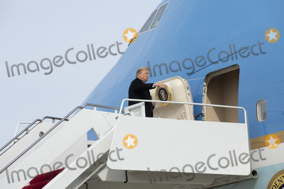 Photo - United States President Donald J Trump boards Air Force One at Joint Base Andrews as he departs Washington DC US for Los Angeles California on Tuesday February 18 2020Credit Stefani Reynolds  CNPAdMedia