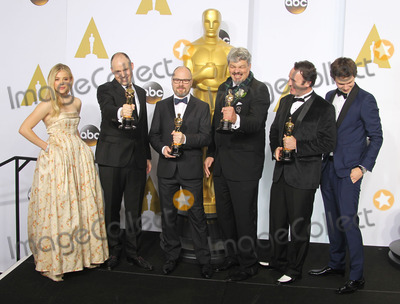 Andrew Lockley Photo - 22 February 2015 - Hollywood California - Chloe Grace Moretz Paul Franklin Andrew Lockley Ian Hunter Scott Fisher Ansel Elgort 87th Annual Academy Awards presented by the Academy of Motion Picture Arts and Sciences held at the Dolby Theatre Photo Credit F SadouAdMedia