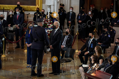 Photo - United States President Joseph R Biden Jr attends a lying in honor ceremony for US Capitol Police officer William Billy Evans in the Rotunda of the US Capitol in Washington DC on Tuesday April 13 2021 Credit Amr Alfiky  Pool via CNPAdMedia