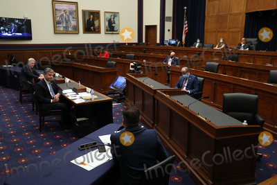 Photo - With members spread apart to reduce the risk posed by the coronavirus the House Homeland Security Committee hears testimony from National Counterterrorism Center Director Christopher Miller and Federal Bureau of Investigation Director Christopher Wray during a hearing on worldwide threats to the homeland in the Rayburn House Office Building on Capitol Hill September 17 2020 in Washington DC Committee Chairman Bennie Thompson (D-MS) said he would issue a subpoena for acting Homeland Security Secretary Chad Wolf after he did not show for the hearing An August Government Accountability Office report found that Wolfs appointment by the Trump Administration which has regularly skirted the Senate confirmation process was invalid and a violation of the Federal Vacancies Reform Act Credit Chip Somodevilla   Pool via CNPAdMedia