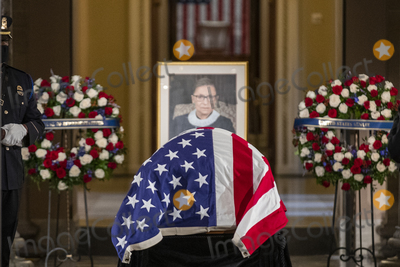 Photo - US Supreme Court Justice Ruth Bader Ginsburg lies in state in Statuary Hall in the US Capitol in Washington DC USA 25 September 2020 Justice Ginsburg the second woman to serve on the Supreme Court is the first woman to lie in state at the US CapitolCredit Shawn Thew  Pool via CNPAdMedia