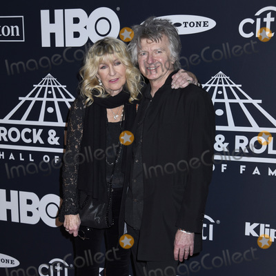 Neil Finn Photo - 29 March 2019 - Brooklyn New York - Christine McVie and Neil Finn at the Rock  Roll Hall of Fame Induction Ceremony arrivals at the Barclays Center Photo Credit LJ FotosAdMedia