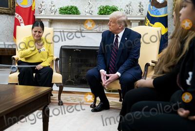 Photo - President Trump Meets Gloria Gullen
