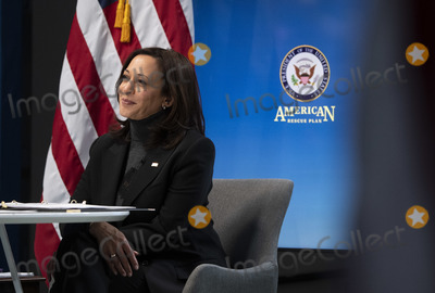 Photos From Vice President Harris participates in a virtual roundtable on the American Rescue Plan in Washington, DC