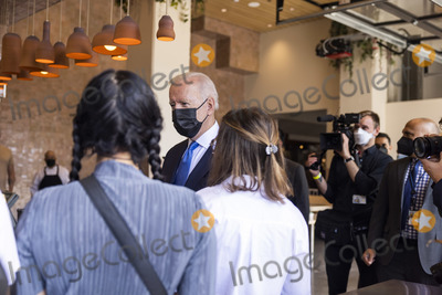 Joe Biden Photo - United States President Joe Biden speaks to workers as he picks up tacos during a visit to Las Gemelas Restaurant  in Washington DC USA 05 May 2021United States President Joe Biden picks up tacos during a visit to Las Gemelas Restaurant  in Union Market to highlight the successes of the American Rescue Plan (ARP) in Washington DC USA 05 May 2021  Las Gemelas is a beneficiary of relief funding from the pilot program Restaurant Revitalization Fund  The ARPs Restaurant Revitalization Fund provides 286 billion in direct relief to restaurants and food and beverage establishments and prioritizes restaurants that are women-owned veteran-owned and owned by other socially and economically disadvantaged individualsCredit Jim LoScalzo  Pool via CNPAdMedia