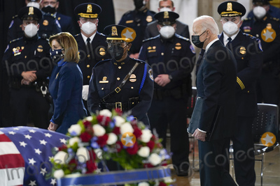 Photos From Slain U.S. Capitol Police officer William Evans is honored at the U.S. Capitol in Washington