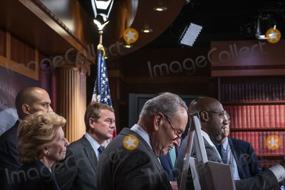 Photo - United States Senate Majority Leader Chuck Schumer (Democrat of New York) holds a press conference on the Child Tax Credit