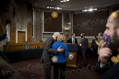 Alaska  Photo - United States Senator Bill Cassidy (Republican of Louisiana) left and United States Senator Lisa Murkowski (Republican of Alaska) confer following a Capitol Hill press conference in Washington DC announcing a bipartisan 908 billion COVID emergency relief framework that is designed to break the partisan deadlock and bring economic relief to millions of Americans on Tuesday December 1 2020Credit Rod Lamkey  CNPAdMedia