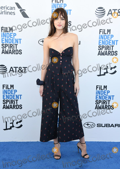Photo - 23 February 2019 - Santa Monica California - Dakota Johnson 2019 Film Independent Spirit Awards - Arrivals held at the Santa Monica Pier Photo Credit Birdie ThompsonAdMedia
