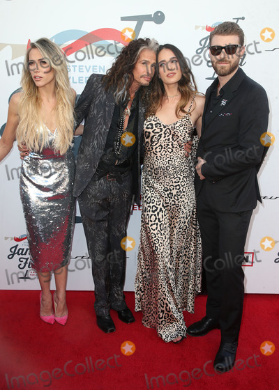 Chelsea Tyler Photo - LOS ANGELES CA - JANUARY 28 Aimee Preston Steven Tyler Chelsea Tyler Jon Foster at Steven Tyler and Live Nation presents Inaugural Janies Fund Gala  GRAMMY Viewing Party at Red Studios in Los Angeles California on January 28 2018 Credit Faye SadouMediaPunch