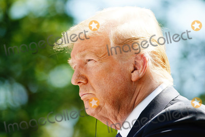 Photo - US President Donald J Trump and Polish President Andrzej Duda (not pictured) hold a joint press conference in the Rose Garden of the White House in Washington DC USA 24 June 2020 Duda a conservative nationalist facing a tight re-election race back home is the first foreign leader to visit the White House in more than three monthsCredit Jim LoScalzo  Pool via CNPAdMedia