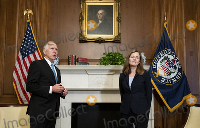Photos From Amy Coney Barrett Capitol Hill Courtesy Call Thom Tillis