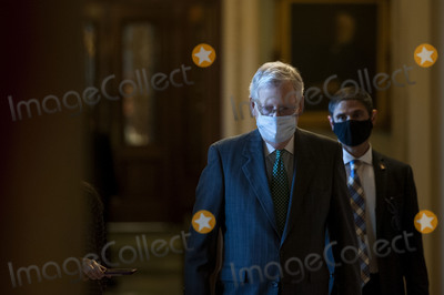 Photos From McConnell Walks to his Office