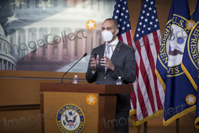 Photos From Democratic Caucus Chairman United States Representative Hakeem Jeffries (Democrat of New York) holds press conference at U.S. Capitol.