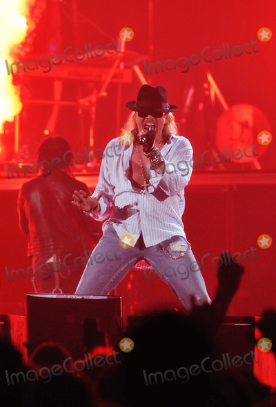Axl Rose Photo - 24 January 2010 - Hamilton Ontario Canada  Axl Rose of Guns N Roses performs on stage at Copps Coliseum in support of Chinese Democracy Photo Credit Brent PerniacAdMedia