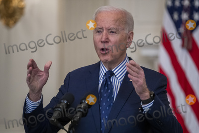 Photos From US President Joe Biden delivers remarks on the Senate Passage of the $1.9 trillion coronavirus relief bill