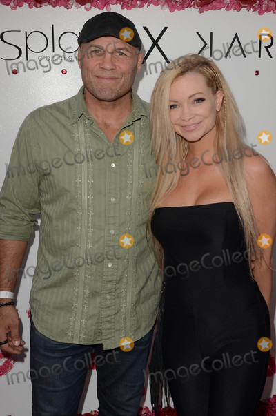 Photo - Randy Couture Mindy Robinsonat the launch of Karina Smirnoffs Karina Collection with LA Splash Cosmetics at the Sofitel Los Angeles at Beverly Hills CA 08-21-17
