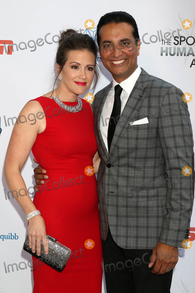 Photo - Monica Buchanan Kevin Negandhiat the 4th Annual Sports Humanitarian Awards The Novo Los Angeles CA 07-17-18