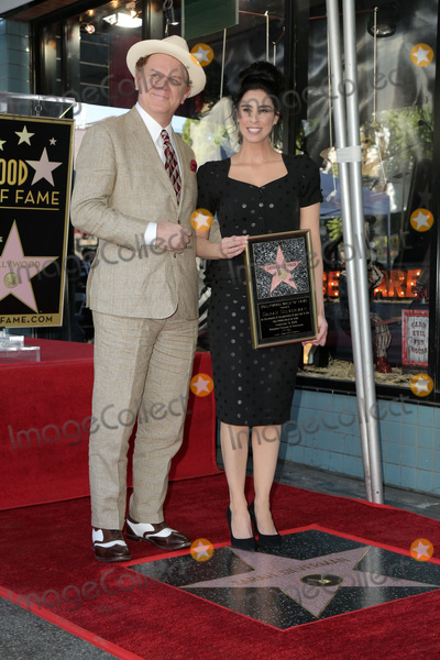 Photo - LOS ANGELES - NOV 9  John C Reilly Sarah Silverman at the Sarah Silverman Star Ceremony on the Hollywood Walk of Fame on November 9 2018 in Los Angeles CA