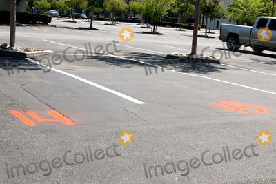 San Bernardino Photo - LOS ANGELES - APR 11  Chilis Numbered Parking Spots for Curbside Pick-up at the Businesses reacting to COVID-19 at the Hospitality Lane on April 11 2020 in San Bernardino CA