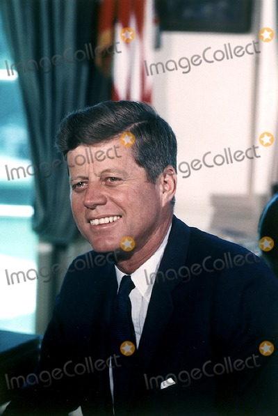 Photo - Portrait Photograph of United States President John F Kennedy taken at the White House in Washington DC on July 11 1963Photo by Cecil StoughtonWhite HouseCNP-PHOTOlinknet