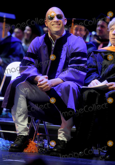Photos From Vin Diesel and Senator Chuck Schumer at a Graduation Ceremony