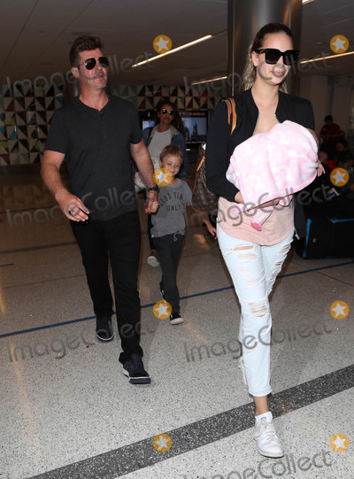Photos From Robin Thicke is seen at LAX Airport