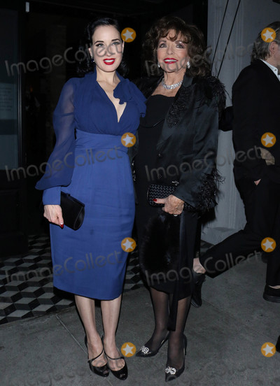 Photos From Dita Von Teese and Joan Collins are seen at Craig's Restaurant