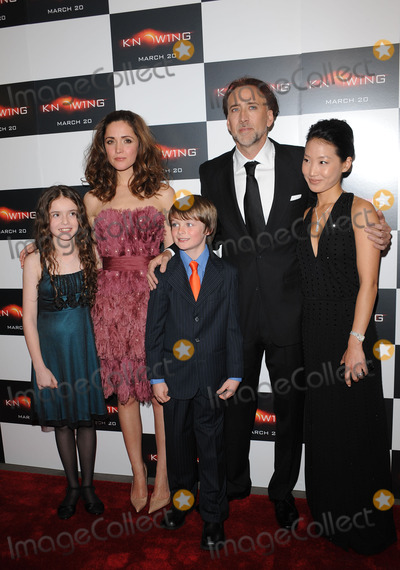 Alice Kim Photo - Actors Lara Robinson Rose Byrne Chandler Canterbury Nicolas Cage and Alice Kim arriving at the premiere of Knowing at the AMC Loews Lincoln Square on March 9 2009 in New York City