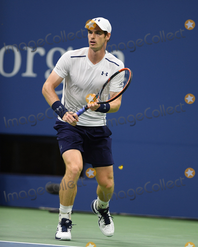 Andy Murray Photo - September 7 2016 New york CityAndy Murray of Great Britain plays Kei Nishikori of Japan during their Mens Singles Quarterfinal match on Day Ten of the 2016 US Open at the USTA Billie Jean King National Tennis Center on September 7 2016 in New York CityBy Line SolarACE PicturesACE Pictures IncTel 6467670430