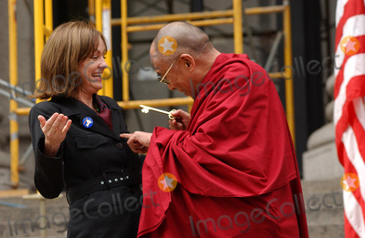Daniel Patrick Moynihan Photo - NEW YORK SEPTEMBER 25 2005    Maura Moynihan daughter of the late US Senator Patrick Moynihan and His Holiness the Dalai Lama attend the ceremony to present His Holiness the Dalai Lama with the key to the city The Dalai Lama visited the future site of the Daniel Patrick Moynihan Station on the site of the James A Farley Post Office