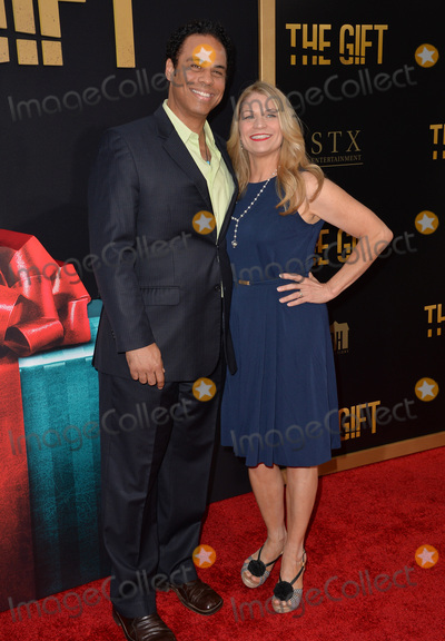 Adam Lazarre-White Photo - Adam Lazarre-White  wife Dendrie Taylor at the world premiere of his movie The Gift at the Regal Cinemas LA LiveJuly 30 2015  Los Angeles CAPicture Paul Smith  Featureflash