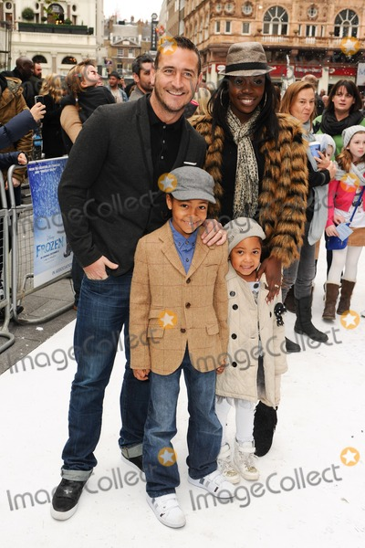 Will Mellor Photo - Will Mellor and family arriving for the Frozen premiere at the Odeon Leicester Square London 17112013 Picture by Steve Vas  Featureflash