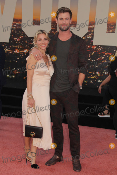 Photo - Elsa Pataky Chris Hemsworth 07222019 The Los Angeles Premiere of Once Upon A Time In Hollywood held at the TCL Chinese Theatre in Los Angeles CA Photo by Izumi Hasegawa  HollywoodNewsWireco