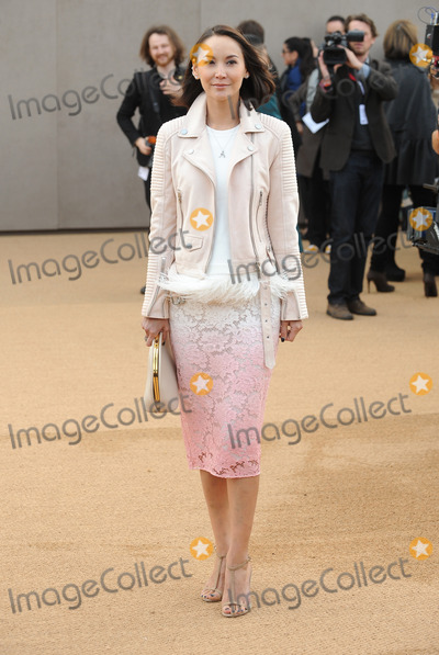 Amanda Strang Photo - London UK Amanda Strang at Burberry Prorsum   AutumnWinter 2015 Fashion Show during London Fashion Week 23rd February 2015Ref LMK200-50546-230215Landmark MediaWWWLMKMEDIACOM