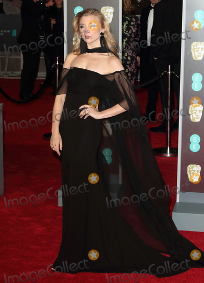 Photo - London UK Natalie Dormer at EE British Academy Film Awards 2018 - Red Carpet Arrivals at the Royal Albert Hall London on Sunday February 18th 2018 Ref LMK73 -J1591-190218Keith MayhewLandmark Media WWWLMKMEDIACOM