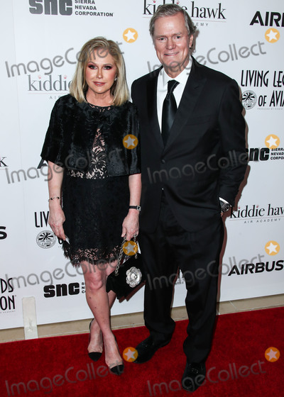 Photo - BEVERLY HILLS LOS ANGELES CA USA - JANUARY 18 Actress Kathy Hilton and husband Rick Hilton arrive at the 16th Annual Living Legends Of Aviation Awards held at The Beverly Hilton Hotel on January 18 2019 in Beverly Hills Los Angeles California United States (Photo by Xavier CollinImage Press Agency)