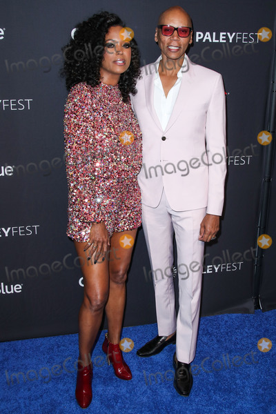 Photo - HOLLYWOOD LOS ANGELES CA USA - MARCH 17 Actress Aisha Tyler and drag queen RuPaul Andre Charles arrive at the 2019 PaleyFest LA - VH1s RuPauls Drag Race held at the Dolby Theatre on March 17 2019 in Hollywood Los Angeles California United States (Photo by Xavier CollinImage Press Agency)