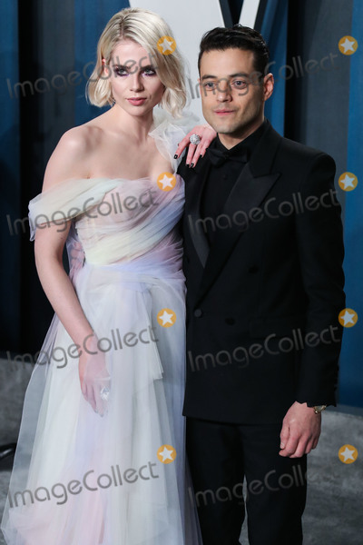 Rami Malek Photo - BEVERLY HILLS LOS ANGELES CALIFORNIA USA - FEBRUARY 09 Lucy Boynton and Rami Malek arrive at the 2020 Vanity Fair Oscar Party held at the Wallis Annenberg Center for the Performing Arts on February 9 2020 in Beverly Hills Los Angeles California United States (Photo by Xavier CollinImage Press Agency)