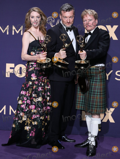 Annabelle Jones Photo - LOS ANGELES CALIFORNIA USA - SEPTEMBER 22 Annabel Jones Charlie Brooker and Russell McLean pose in the press room at the 71st Annual Primetime Emmy Awards held at Microsoft Theater LA Live on September 22 2019 in Los Angeles California United States (Photo by Xavier CollinImage Press Agency)