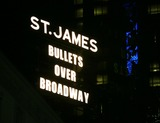 Susan Stroman Photo - Theatre Marquee up in lights for Bullets Over Broadway - The Musical Written by Woody Allan and Directed by Susan Stroman at the St James Theatre on November 19 2013 in New York CityCredit McBrideface to face