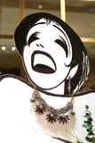 Al Hirschfeld Photo - Hirschfeld Three dimensional drawing of Liza Minnelli photographed in New York City on November 19 2013Al Hirschfeld whose legendary quill pen captured virtually every well-known performing artist of the 20th century will be celebrated by Henri Bendel The Hirschfeld Spectacular will be on display throughout the Henri Bendel flagship store until January 2 2014 Credit McBrideface to face