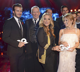 Anastacia Photo - David Beckham Jean-Paul Gaultier Anastacia Kylie Minogue L-R attending the GQ Award (Maenner des Jahres 2013) at Komische Oper Berlin 07112013Credit E Schroederface to face