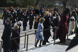 Barack Obama Photo - ARLINGTON VA - JANUARY 20 Former President Bill Clinton former Secretary of State Hillary Clinton Former President George W Bush former First Lady Laura Bush Former President Barack Obama and former First Lady Michelle Obama participate in a wreath-laying ceremony at the Tomb of the Unknown Soldier January 20 2021 in Arlington National Cemetery in Arlington Virginia Credit Katherine Frey - Pool via CNPAdMedia