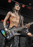 Ashley Purdy Photo - 21 May 2011 - Columbus Ohio - Bassist ASHLEY PURDY of the band BLACK VEIL BRIDES performs as part of the Rock On The Range festival held at Columbus Crew Stadium Photo Credit Jason L NelsonAdMedia