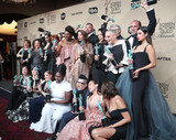 Abigail Savage Photo - 29 January 2017 - Los Angeles California - Danielle Brooks Lea DeLaria Yael Stone Abigail Savage James McMenamin Emily Althaus Alan Aisenberg Kimiko Glenn Samira Wiley Julie Lake Uzo Aduba Jessica Pimentel Dascha Polanco Taryn Manning 23rd Annual Screen Actors Guild Awards held at The Shrine Expo Hall Photo Credit F SadouAdMedia