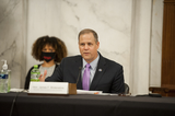 The National Photo - National Aeronautics and Space Administration Administrator James F Bridenstine appears before a Senate Committee on Appropriations Subcommittee on Commerce Justice Science and Related Agencies hearing to examine proposed budget estimates and justification for fiscal year 2021 for the National Aeronautics and Space Administration in the Senate Russell Office Building on Capitol Hill in Washington DC Wednesday September 23 2020Credit Rod Lamkey  CNPAdMedia