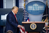 Mark Andes Photo - United States President Donald J Trump walks to the podium to deliver brief remarks on the stock marked and the Dow reaching 30000 for the first time in history at the White House in Washington DC on Tuesday November 24 2020Credit Kevin Dietsch  Pool via CNPAdMedia